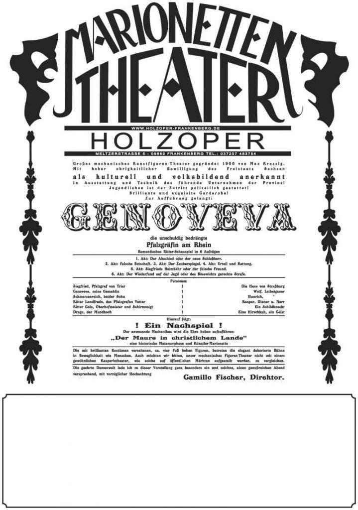 Holzoper Plakat Genoveva