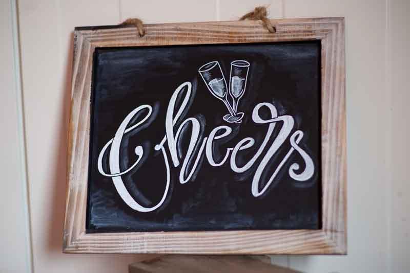 Kreidetafel - Cheers