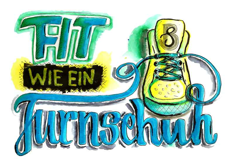 Fit wie ein Turnschuh - Illustration