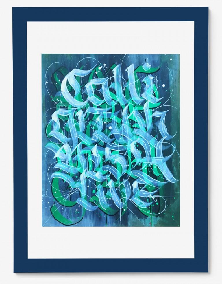 Calligraphy is alive gerahmt